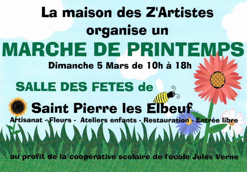 March de printemps par la maison des z 39 artistes for Association maison des artistes